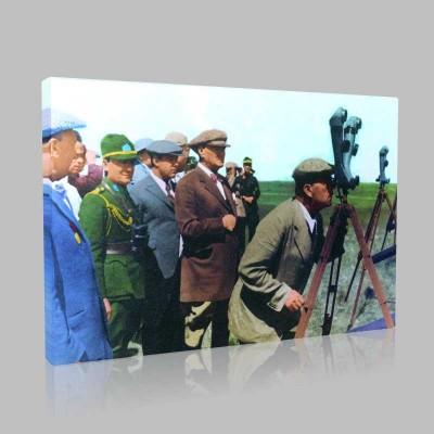 Renkli Atatürk Resimleri 149 Kanvas Tablo