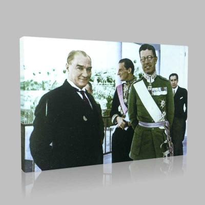 Renkli Atatürk Resimleri 150 Kanvas Tablo