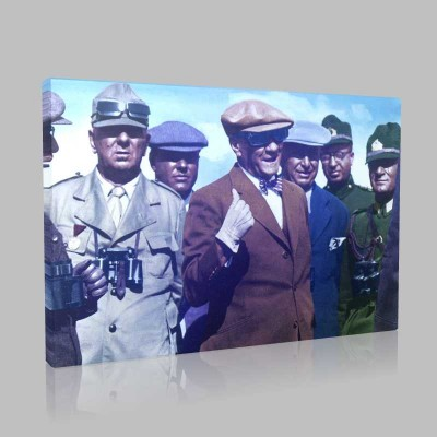 Renkli Atatürk Resimleri 151 Kanvas Tablo