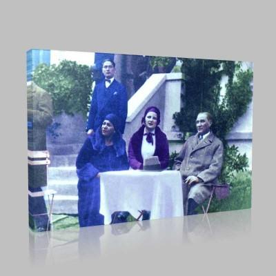 Renkli Atatürk Resimleri 152 Kanvas Tablo