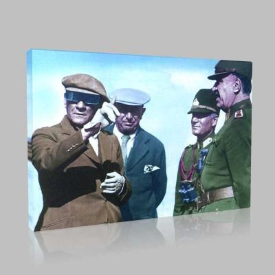 Renkli Atatürk Resimleri 153 Kanvas Tablo
