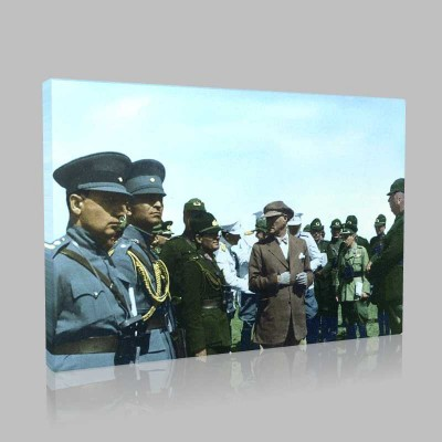 Renkli Atatürk Resimleri 155 Kanvas Tablo