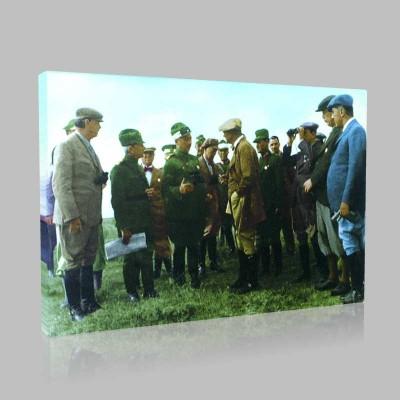 Renkli Atatürk Resimleri 156 Kanvas Tablo