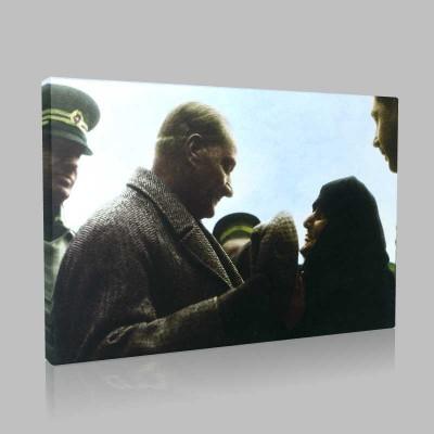 Renkli Atatürk Resimleri 157 Kanvas Tablo