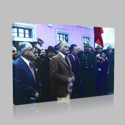 Renkli Atatürk Resimleri 159 Kanvas Tablo