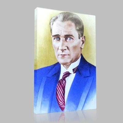 Renkli Atatürk Resimleri 16 Kanvas Tablo