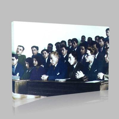 Renkli Atatürk Resimleri 160 Kanvas Tablo