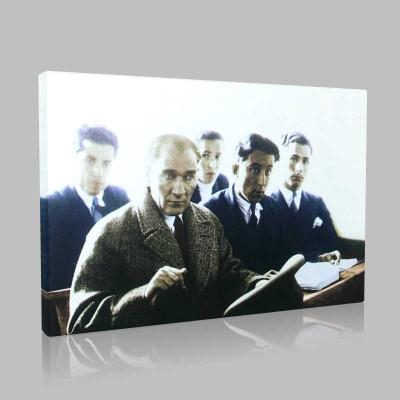 Renkli Atatürk Resimleri 161 Kanvas Tablo