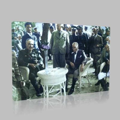 Renkli Atatürk Resimleri 162 Kanvas Tablo