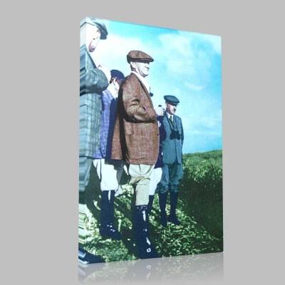 Renkli Atatürk Resimleri 163 Kanvas Tablo