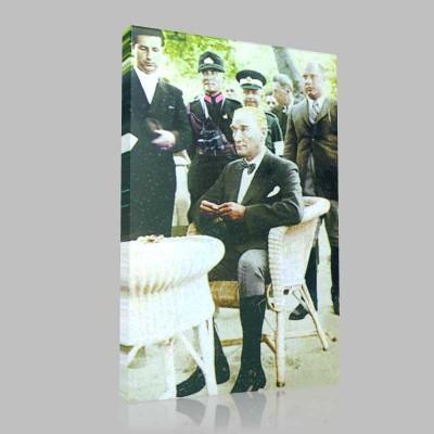 Renkli Atatürk Resimleri 164 Kanvas Tablo