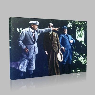 Renkli Atatürk Resimleri 165 Kanvas Tablo