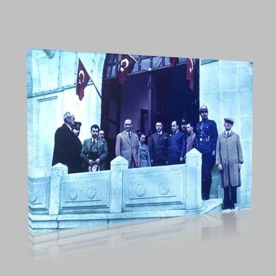 Renkli Atatürk Resimleri 166 Kanvas Tablo