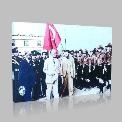 Renkli Atatürk Resimleri 167 Kanvas Tablo
