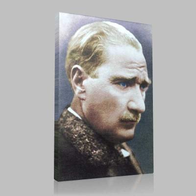 Renkli Atatürk Resimleri 17 Kanvas Tablo