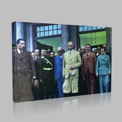 Renkli Atatürk Resimleri 170 Kanvas Tablo