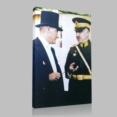 Renkli Atatürk Resimleri 171 Kanvas Tablo