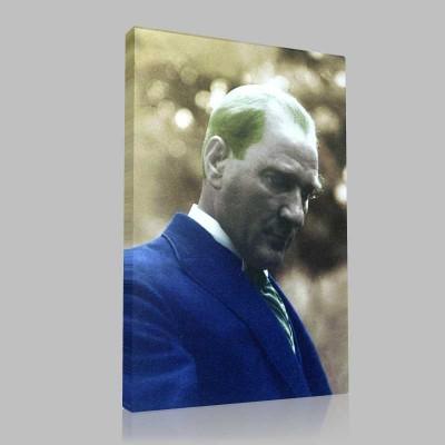 Renkli Atatürk Resimleri 173 Kanvas Tablo