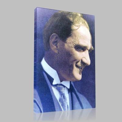 Renkli Atatürk Resimleri 174 Kanvas Tablo