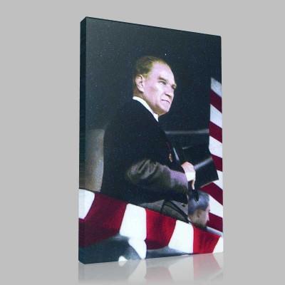 Renkli Atatürk Resimleri 175 Kanvas Tablo