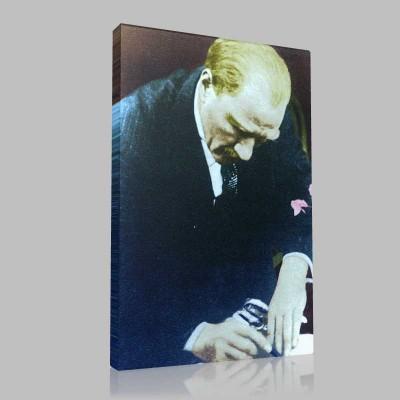 Renkli Atatürk Resimleri 176 Kanvas Tablo