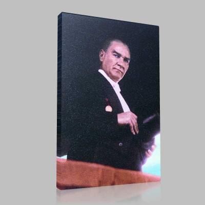 Renkli Atatürk Resimleri 177 Kanvas Tablo