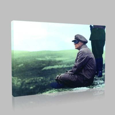 Renkli Atatürk Resimleri 178 Kanvas Tablo