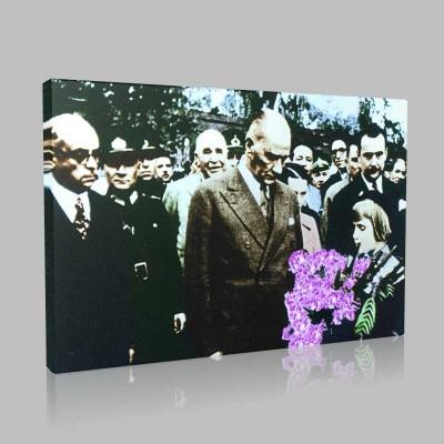 Renkli Atatürk Resimleri 179 Kanvas Tablo
