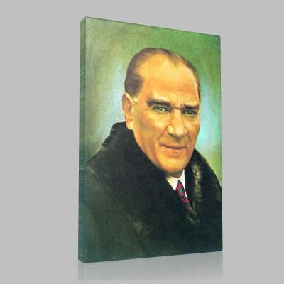 Renkli Atatürk Resimleri 18 Kanvas Tablo