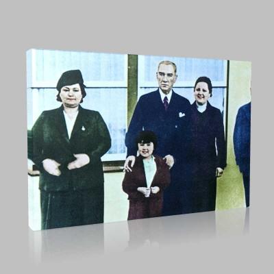 Renkli Atatürk Resimleri 180 Kanvas Tablo