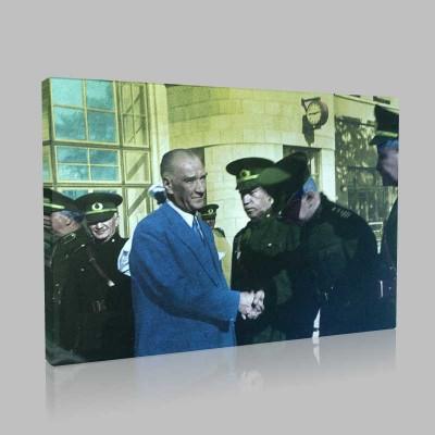 Renkli Atatürk Resimleri 182 Kanvas Tablo