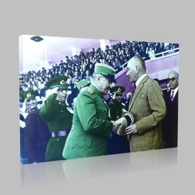Renkli Atatürk Resimleri 185 Kanvas Tablo