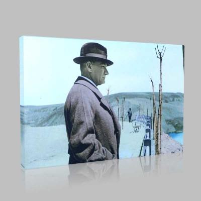 Renkli Atatürk Resimleri 186 Kanvas Tablo