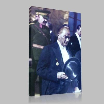 Renkli Atatürk Resimleri 187 Kanvas Tablo