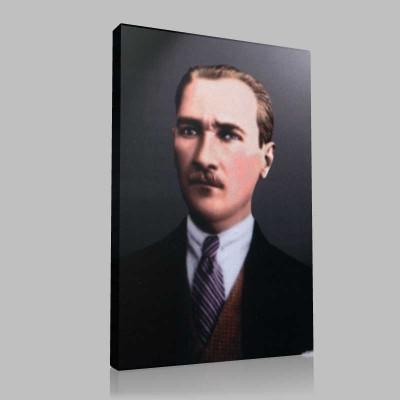 Renkli Atatürk Resimleri 19 Kanvas Tablo