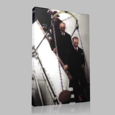Renkli Atatürk Resimleri 190 Kanvas Tablo
