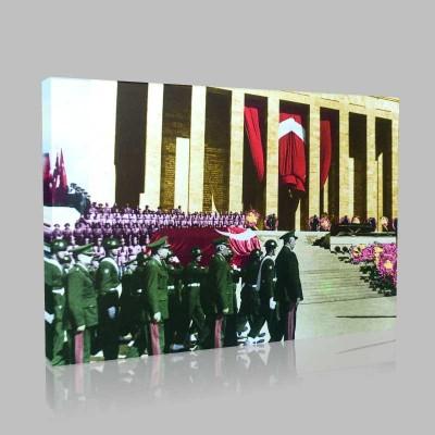 Renkli Atatürk Resimleri 192 Kanvas Tablo