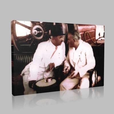 Renkli Atatürk Resimleri 194 Kanvas Tablo