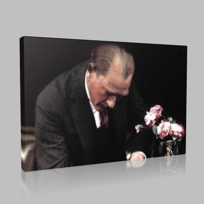 Renkli Atatürk Resimleri 197 Kanvas Tablo