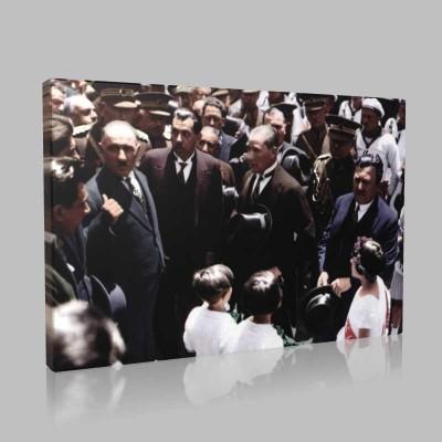 Renkli Atatürk Resimleri 198 Kanvas Tablo