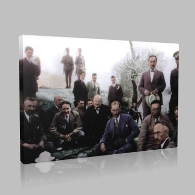 Renkli Atatürk Resimleri 199 Kanvas Tablo
