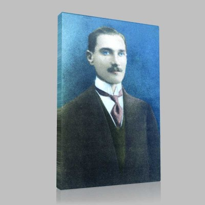 Renkli Atatürk Resimleri 2 Kanvas Tablo