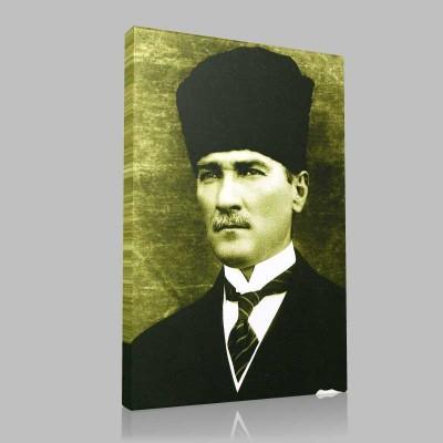 Renkli Atatürk Resimleri 20 Kanvas Tablo