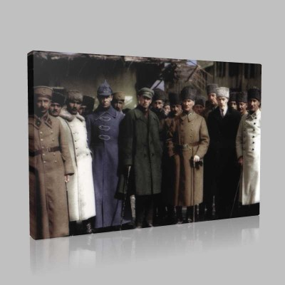 Renkli Atatürk Resimleri 200 Kanvas Tablo