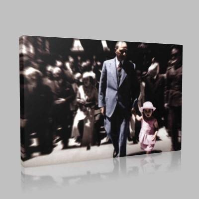Renkli Atatürk Resimleri 201 Kanvas Tablo