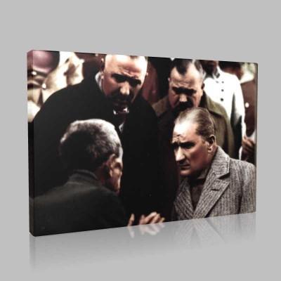 Renkli Atatürk Resimleri 202 Kanvas Tablo