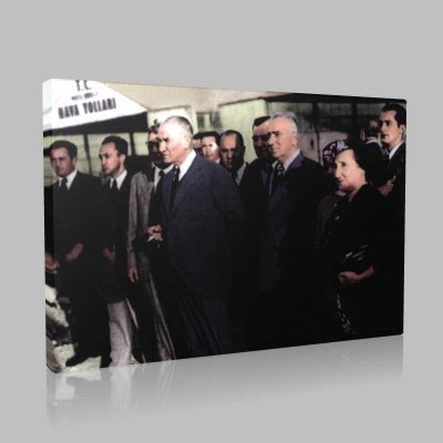 Renkli Atatürk Resimleri 203 Kanvas Tablo