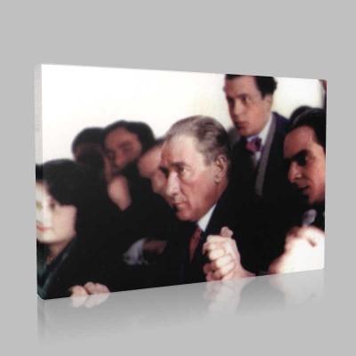 Renkli Atatürk Resimleri 204 Kanvas Tablo