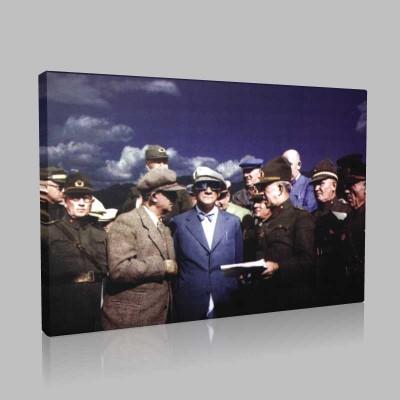 Renkli Atatürk Resimleri 207 Kanvas Tablo