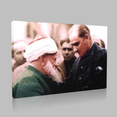 Renkli Atatürk Resimleri 208 Kanvas Tablo